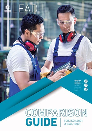 Download the Comparison Guide ISO 45001 - OHSAS 18001 free