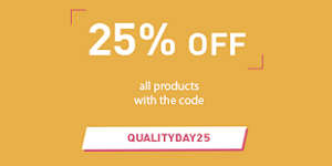 25% off all products with the code